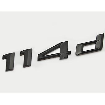 Matt Black BMW 114d Car Model Rear Boot Number Letter Sticker Decal Badge Emblem For 1 Series E81 E82 E87 E88 F20 F21 F52 F40