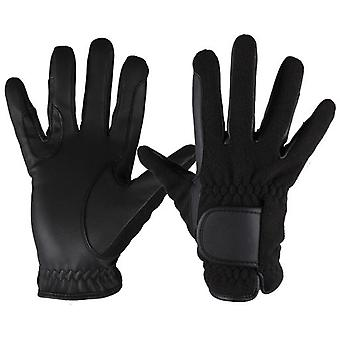 QHP Frozen Black Gloves (Horses , Rider equipment , Accessories , Glothes)