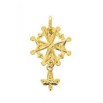 Huguenote Cross wisiorek Złoty 375/1000 żółty (9K)