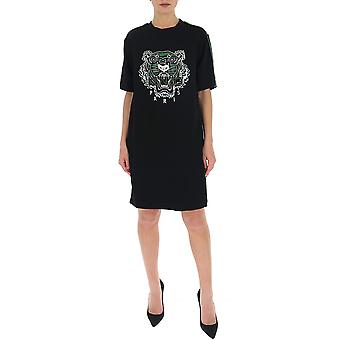 Kenzo Fa52ro1935ac59 Women's Black Cotton Dress