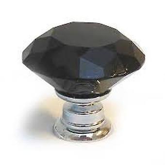 Boolavard® TM 30 mm Black Diamond cristal muebles armario armario armario puerta perilla cajón tire pomos del manillar