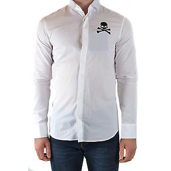 Philipp Plein Ezbc428025 Men's White Cotton Shirt