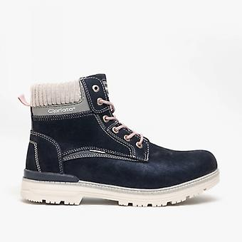Cipriata Stefania Ladies Lace Up Ankle Boot Navy