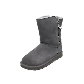 UGG Classic Short Sparkle Zip Women's Boots Grey Lace-Up Boots Winter