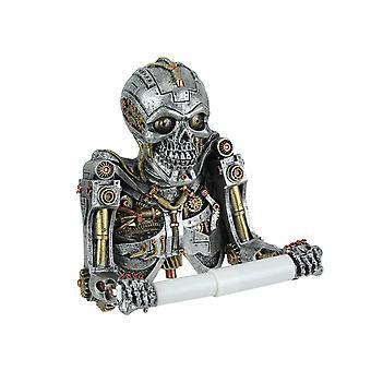 Steampunk Mechaniczny Szkielet Rzeźbiarski uchwyt na papier toaletowy
