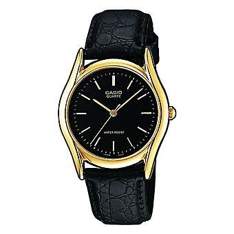 カシオ古典的なアナログ クオーツ メンズ腕時計革 MTP-1154PQ-1 a