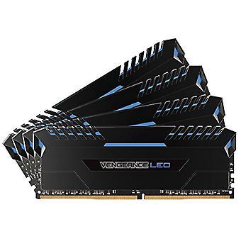 Corsair Vengeance LED Memory Kit Beleuchtet LED Enthusiastic 64 GB (4x16 GB), DDR4 3200 MHz, C16 XMP 2.0, Schwarz mit blauer LED-Beleuchtung