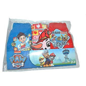 Jongensondergoed in 3-pack Paw Patrol Blue/Checkered/Red