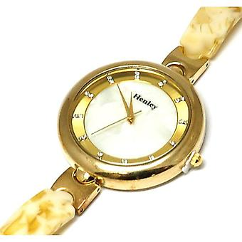 Henley Glamour Slender Shell Watch, Diamante Crystals