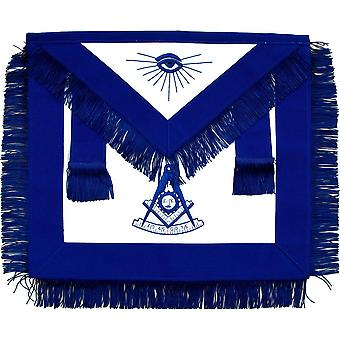 Masońskie przeszłości mistrz fartuch niebieski z frędzlami