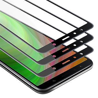 Cadorabo 3x Full Screen Tank Foil for Samsung Galaxy A7 2018 - Pakiet 3 hartowanego wyświetlacza szkło ochronne o twardości 9H z 3D Touch