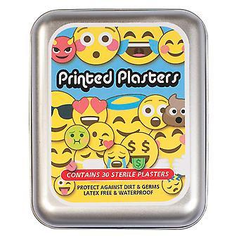 Set of 30 Emoji Printed Plasters