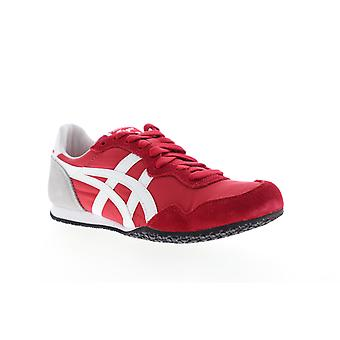 Onitsuka Tiger Serrano  Mens Red Suede Lace Up Low Top Sneakers Shoes