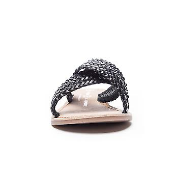 Chinese Laundry Womens POPULAR Leather Open Toe Casual Slide Sandals