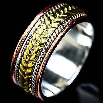 Meditation Spinner Ring Size 6.5 (925 Sterling Silver)  - Handmade Boho Vintage Jewelry RING5540