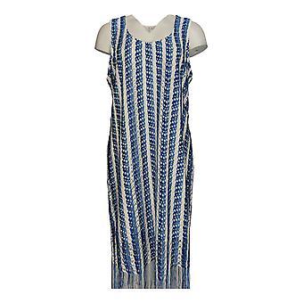 K Jordan Dress Fringe Element Navy/Royal Blue / White