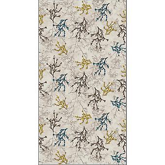 Koralle 5 Multicolor bedruckter Teppich aus Polyester, Baumwolle, L120xP180 cm