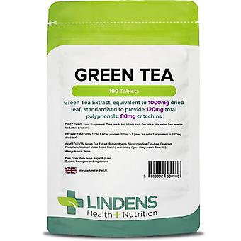 Lindens Green Tea 1000mg tabletit 100 (908)