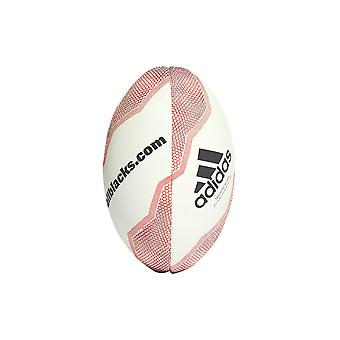 Adidas New Zealand alle svarte Mini Rugby Union Rugby Ball Whte/rød
