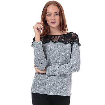 Women's Only Idaho Lace Trim Jumper in Grey