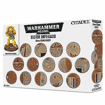 Warhammer 40,000 Sector Imperialis: 32Mm Round Bases