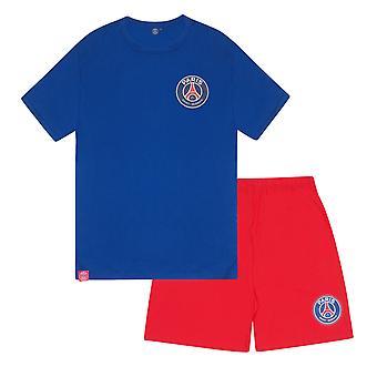 PSG Herre Pyjamas Kort Loungewear OFFICIELLE Fodbold Gave
