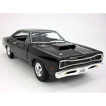 MotorMax American Classics - 1969 Dodge Coronet Super Bee Black 1:24