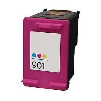 RudyTwos ersättning för HP 901 bläck bläckpatron Tri-Colour(CyanYellow&Magenta) kompatibel med Officejet 4500 J4500, J4524, J4535, J4540, J4550, J4580, J4585, J4600, J4624, J4660, J4680, J4680C, G510a,