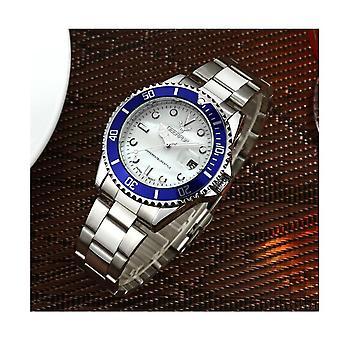 Genuine Deerfun Homage Watch White Blue Silver Date Watches Submariner Sale