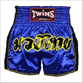 Twins special blue retro muay thai shorts