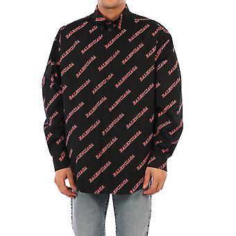 Balenciaga 627023tilr81076 Mænd's Sort bomuldsskjorte