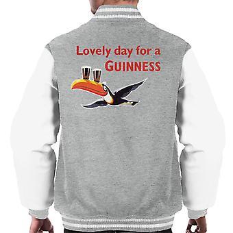 Lovely Day For A Guinness Men's Varsity Jacket