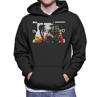 Motorsport Bilder James Hunt Podium Interview Men's Kapuzen-Sweatshirt