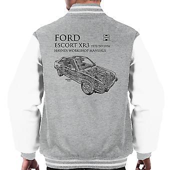Haynes propietarios 0686 Manual de taller Ford Escort XR3 negro Varsity chaqueta de los hombres