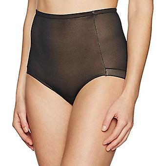 Brand - Arabella Women's Smoothing Mesh Shapewear Brief, Black, Small