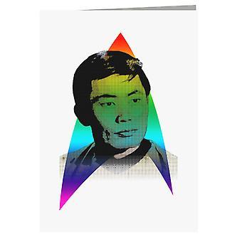 Rainbow Hikaru Sulu George Takei LGBTQ Pride Star Trek Greeting Card