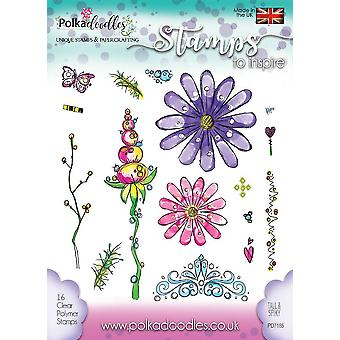Polkadoodles Tall & Spiky Clear Stamps