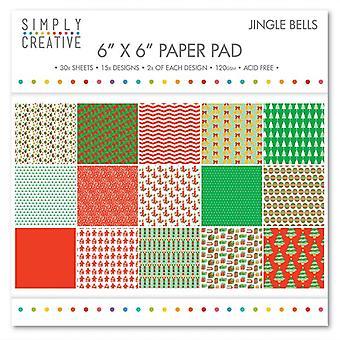 Simply Creative FSC Paper Pad 6x6 Inch Jingle Bells