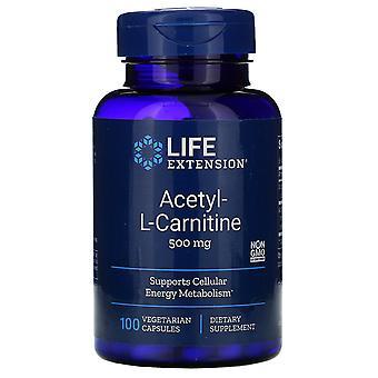 Life Extension, Acetyl-L-Carnitin, 500 mg, 100 vegetarische Kapseln