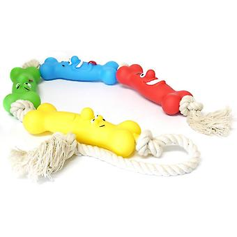 Classic Vinyl Bone On A Rope Tug Toy - 680mm