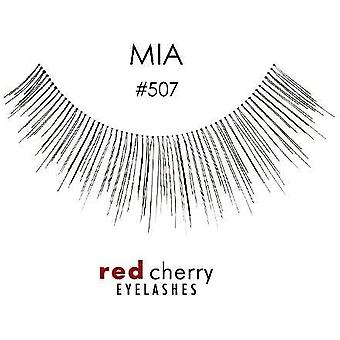 Red Cherry False Eyelashes - #507 Mia - Perfect Curl Handcrafted Lashes