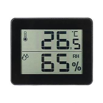 LCD Digital Temperatur Fugtighed Meter Hygrometer Sort