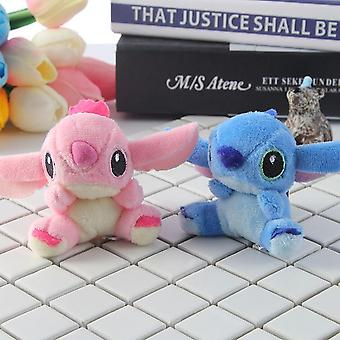 2pcs/set Kawaii Stitch Plush Toy-Keychains Recheado Soft Pp Cotton Phone Charm
