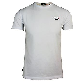 Superdry men's ol vintage emb optik weiß t-shirt