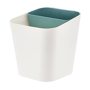 Dry Wet Dual-use Trash Can Plastic Kitchen Gunoi Poate Alb + Verde