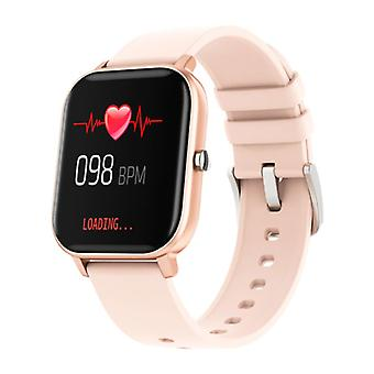 COLMI P8 Smartwatch Smartband Smartphone Fitness Sport Activity Tracker Watch OLED iOS iPhone Android Silicone Strap Rose Gold