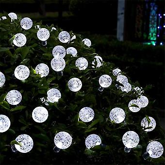 50 Bubble/ Globe /crystal Shaped Ball Lights With Solar Panel And Ground Stake Solar Powered For Garden Christmas Garlands And Decoration