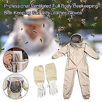 Cotton Full Body Beekeeping Clothing Veil Hood Hat Clothes Jacket Protective Beekeeping Suit Beekeepers Bee Suit Safety Clothing