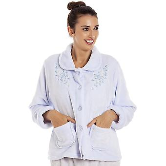 Camille Camille Womens Luxury Soft Button Bed Jackets