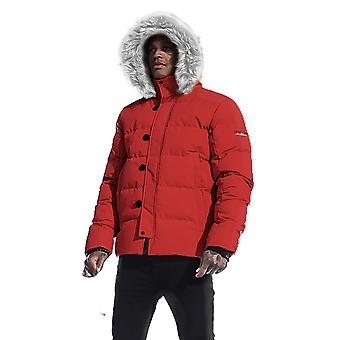4Bidden Lightening Hooded Padded Jacket - Red
